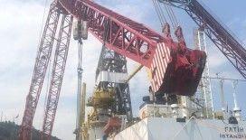 Fatih Sondaj Gemisi'nin kulelerinin montajı tamamlandı