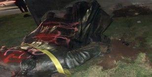 Portland'da göstericiler George Washington heykelini yıktı
