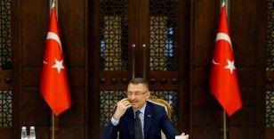 Cumhurbaşkanı Yardımcısı Oktay, Özbekistan Başbakan Yardımcısı Umurzakoy ile görüştü