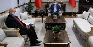 Cumhurbaşkanı Yardımcısı Oktay TFF Başkanı Özdemir'i kabul etti