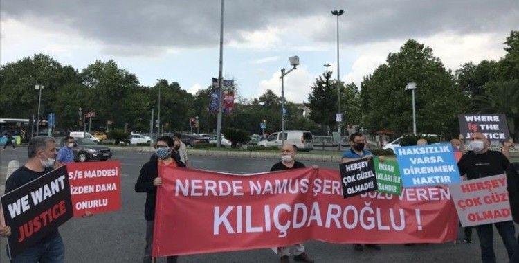 İSPARK'tan çıkartılan işçiler, İBB önünde protesto gösterisi yaptı