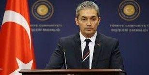 Dışişleri Bakanlığı Sözcüsü Hami Aksoy'dan ABD'ye tepki