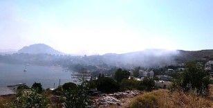Ünlü tatil beldesi duman altında kaldı