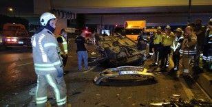 Vatan Caddesi'nde feci trafik kazası: 1'i ağır 3 yaralı