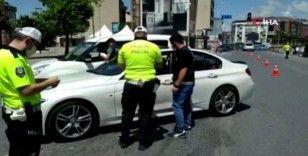 Polisten, YKS günü sokağa çıkma kısıtlaması denetimi
