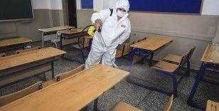 YKS sonrası sınıflar dezenfekte edildi