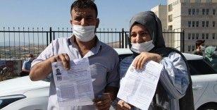 Elazığ'da baba kız birlikte üniversite sınavına girdi