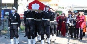 Burdur'da şehit olan polis memuru son yolculuğuna uğurlandı