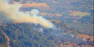 Foça'da çıkan orman yangını kısa sürede kontrol altına alındı