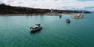 Batan teknenin yeri tespit edildi
