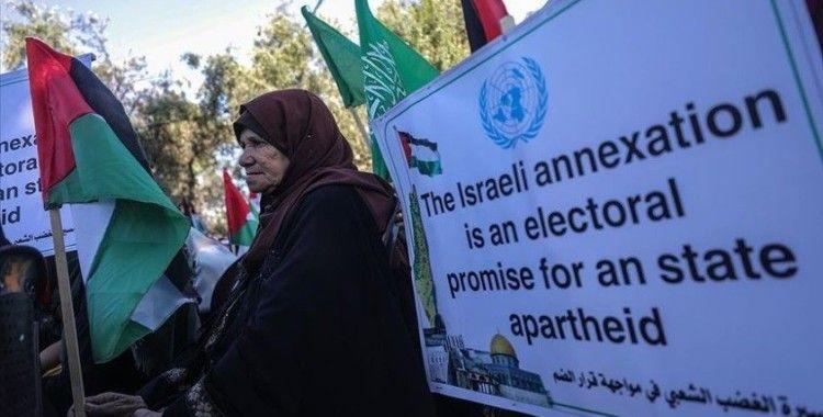 Gazzeli kadınlar İsrail'in 'ilhak' planını protesto etti