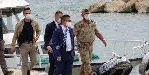 Van Cumhuriyet Başsavcısı Dönmez, Van Gölü'ndeki çalışmaları inceledi