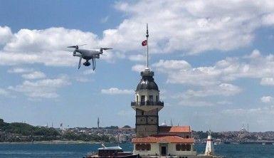 Üsküdar sahilde çekirdek yasağına drone ile denetim