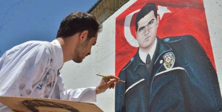 Elbistan'da şehit polisler için özel çalışma