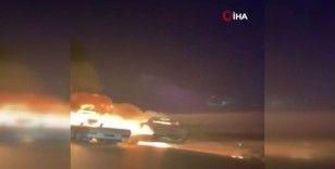 Irak'ta ABD ordusuna ait 3 araç ateşe verildi