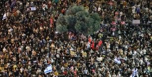 İsrail'de binlerce kişiden hükumet protestosu