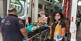 Samsun'da motosikletle otomobil çarpıştı: 2 yaralı