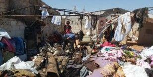 İdlib'te mülteci kampında yangın