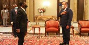 Bakan Çavuşoğlu, Ekvator Ginesi Cumhurbaşkanı Mbasogo tarafından kabul edildi