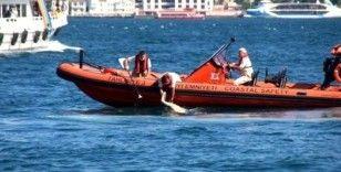 Beşiktaş'ta boğaza yüzmek için giren bir kişi boğuldu