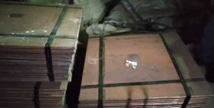 1 milyonluk 26 ton saf bakır çalan hırsızlar yakalandı