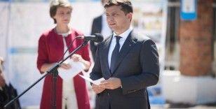 Ukrayna ve İsviçre Devlet Başkanları Ukrayna'daki çatışma bölgesini ziyaret etti