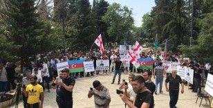 Gürcistan'daki Türklerden Azerbaycan'a destek mitingi