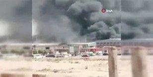 Mısır'da cips fabrikasında yangın