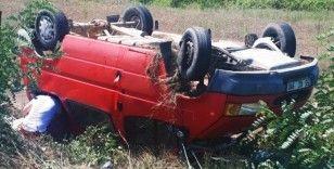 Samsun'da minibüs şarampole yuvarlandı: 2 yaralı