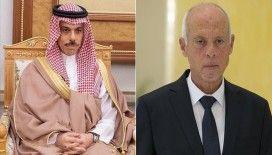 Suudi Arabistan Dışişleri Bakanı Bin Ferhan Tunus'ta Cumhurbaşkanı Said ile 'Libya'yı' görüştü