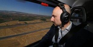 Bakan Karaismailoğlu, Ankara-Sivas YHT Projesi'ni havadan inceledi
