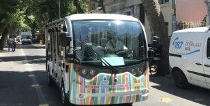 Büyükada'da elektrikli araçların seferleri başladı
