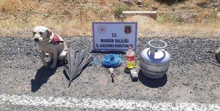 Mardin'de teröristlerce tuzaklanan 12 kilogram el yapımı patlayıcı imha edildi