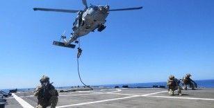 TSK bağlısı fırkateynler ve görevli personel Orta Akdeniz'de eğitim yaptı