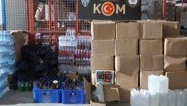 Adana'da 600 bin liralık kaçak içki ele geçirildi