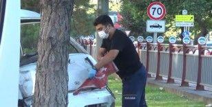 Sağlık çalışanının 'Türk bayrağı' hassasiyeti