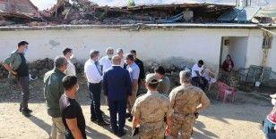Pütürge'deki 5,2'lik depremde 6 ev ağır hasar aldı