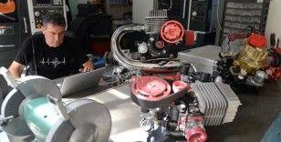 Hafif hava araçları için ürettiği ay yıldızlı motorları ihraç ediyor