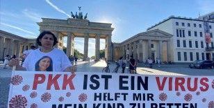 Almanya'da kızı PKK tarafından kaçırılan anne eylemini sürdürdü