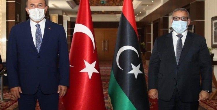 Bakan Çavuşoğlu, Libya Devlet Yüksek Konseyi Başkanı el-Mişri ile görüştü