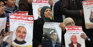 İsrail hapishanelerindeki Filistinli tutuklulara destek için Gazze'de oturma eylemi düzenlendi