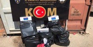 Gaziantep'te kaçak nargile tütünü ve sigara operasyonu
