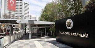 Dışişleri Bakanlığından Irak'a PKK terör örgütü tepkisi