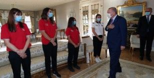 Cumhurbaşkanı Erdoğan, Avrupa Şampiyonu millileri kabul etti