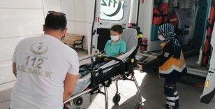 Aksaray'da 9 yaşındaki bisikletli çocuğa otomobil çarptı