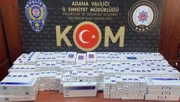 Adana'da bin 330 paket kaçak sigara ele geçirildi