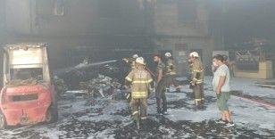İzmir'deki fabrika yangını kontrol altına alındı