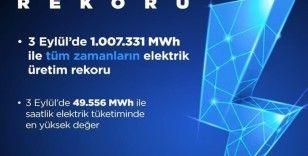 Bakan Dönmez, tüm zamanların elektrik üretim rekorunun kırıldığını açıkladı