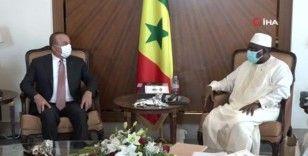 Bakan Çavuşoğlu, Senegal Devlet Başkanı Sall tarafından kabul edildi
