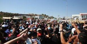 Moria kampındaki sığınmacılardan 'özgürlük' protestosu